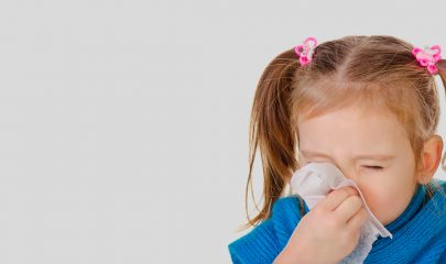 Конъюнктивит, насморк, кашель и температура у ребенка