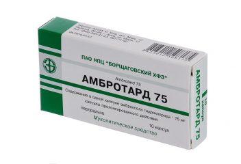 Таблетки Амбротард 75: инструкция