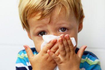 Облегчение дыхания при насморке у детей