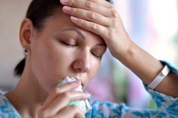 После промывания носа болит голова