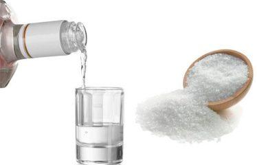 От чего помогает водка с солью и как ее применять? Эффективные рецепты